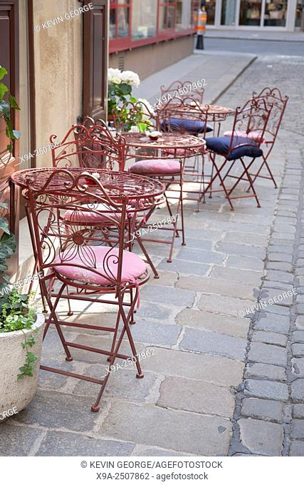Cafe Table and Chairs, Vienna, Austria