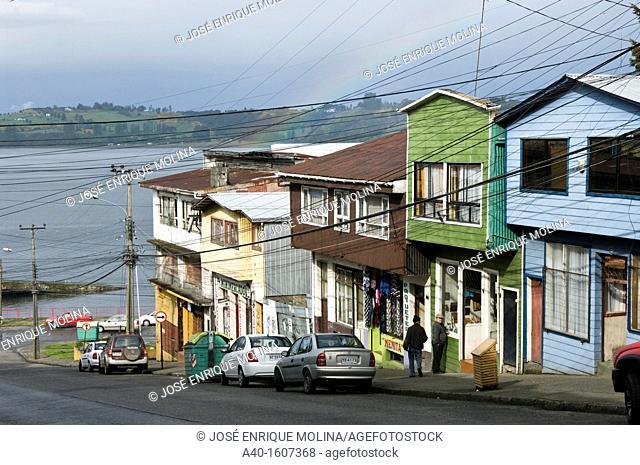 Chile. Chiloe island. Castro city