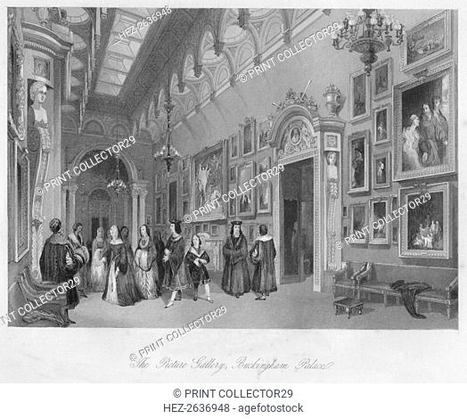 'The Picture Gallery, Buckingham Palace', c1841. Artist: Henry Melville