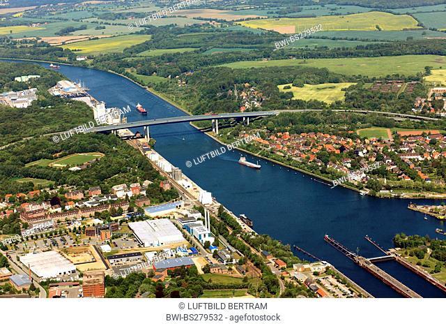 Kiel Canal and watergate Holtenau, Germany, Kiel