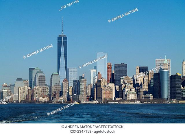 The Manhattan skyline. New York city. USA