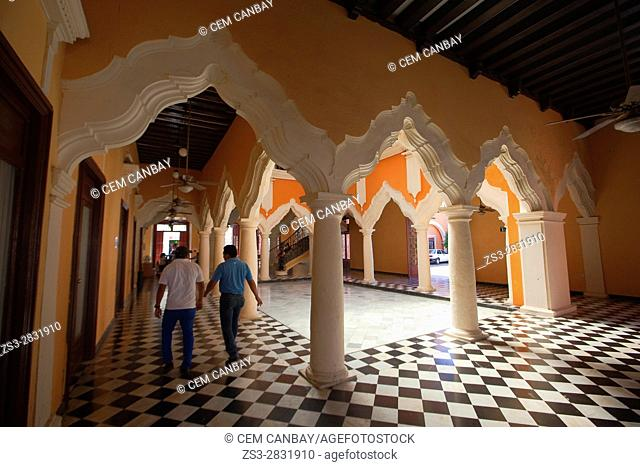 View to the Interior of the Mansion Carvajal in the historic center, Campeche, Campeche State, Mexico, Central America