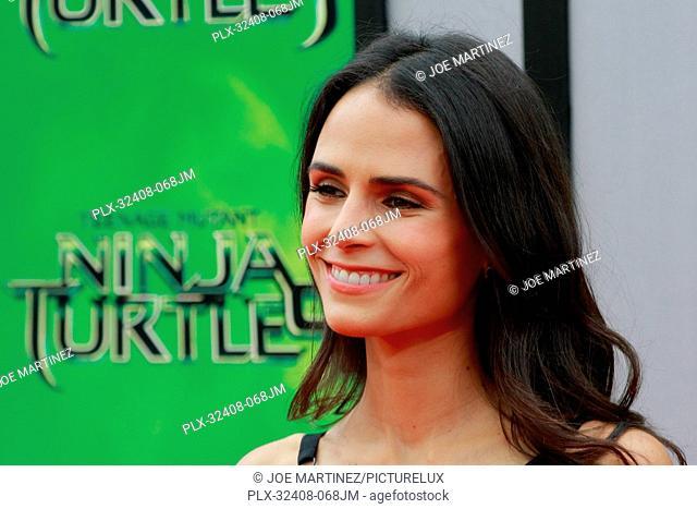 Jordana Brewster at the Paramount Pictures' premiere of Teenage Mutant Ninja Turtles held at Regency Village Theatre in Westwood, CA, August 3, 2014