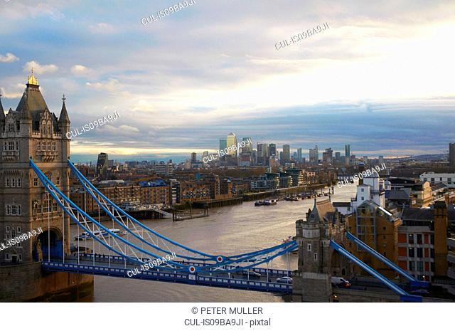 Tower bridge over river Thames, London, United Kingdom, Europe