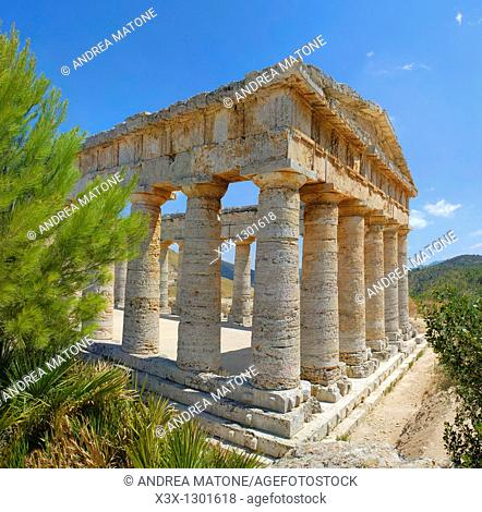 The Greek Doric temple Segesta Sicily Italy
