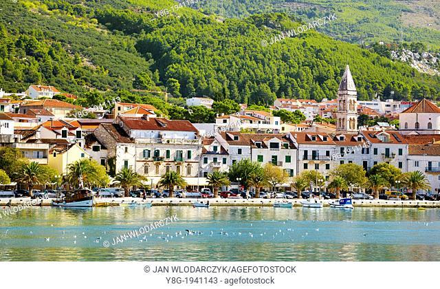 Croatia - Makarska Riviera, seafront Makarska Village, Dalmatia, Croatia