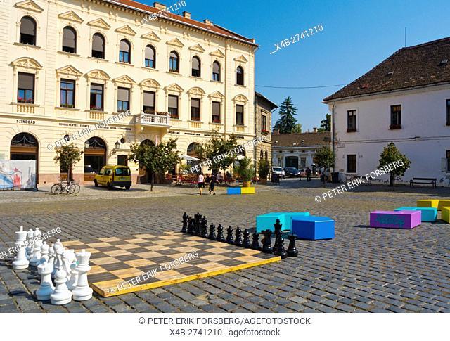 FŠ' tér, main square, Obuda, Budapest, Hungary, Europe