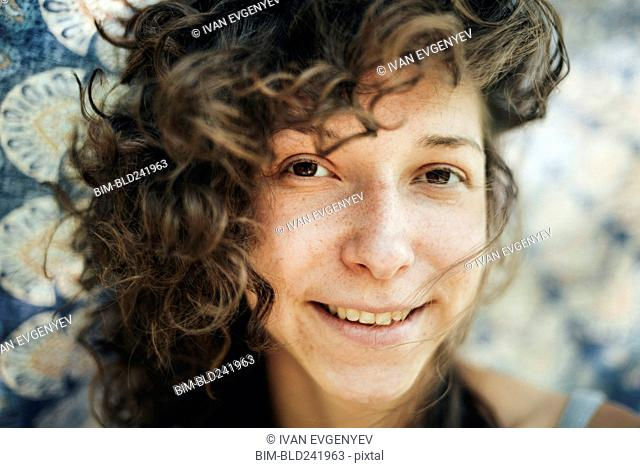 Portrait of smiling Caucasian woman