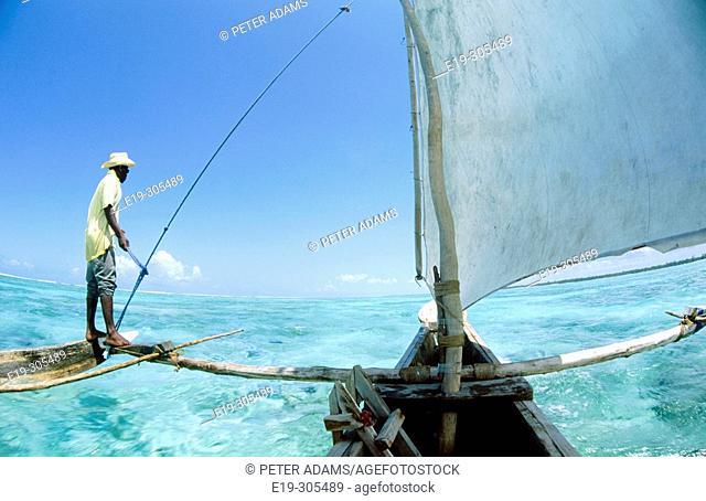 Boatman in Zanzibar, Tanzania