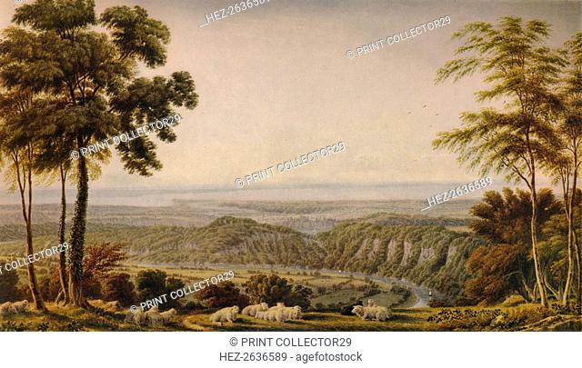 View from the Wyndd Cliff, near Chepstow - Morning', c1820, (1938). Artist: William Turner