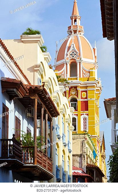 Cathedral Basilica of Saint Catherine of Alexandria, Cartagena de Indias, Bolivar, Colombia, South America