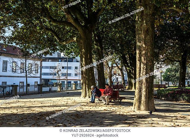 Saint Lazarus Gardens (Jardim de Sao Lazaro) in Santo Ildefonso district of Porto city on Iberian Peninsula, second largest city in Portugal