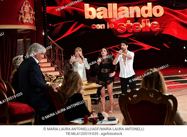 Milly Carlucci, Nunzia De Girolamo discusses with the jury at the tv show Ballando con le setelle (Dancing with the stars) Rome, ITALY-11-05-2019