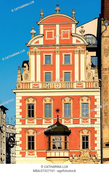 Poland, Wroclaw, old town, east side, Haus zum Goldenen Hund