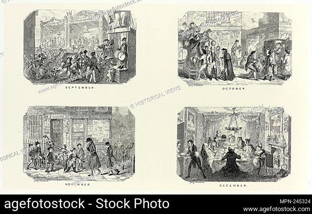 September from George Cruikshank's Steel Etchings to The Comic Almanacks: 1835-1853 (top left) - 1835, printed c. 1880 - George Cruikshank (English