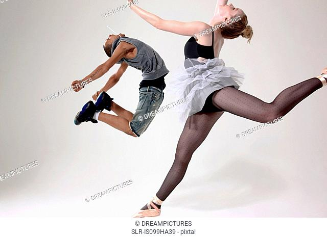 Traditional and contemporary dancers performing