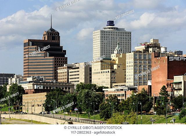 The Memphis skyline, Memphis, Tennessee, USA