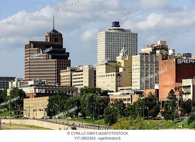 The Memphis skyline, Memphis, Tennessee, USA