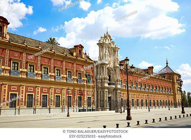 Seville Palacio de San Telmo in Andalusia of spain