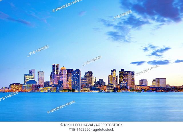 2010 Boston skyline, Massachusetts