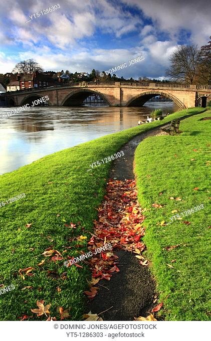 Thomas Telford's bridge crossing the River Severn at Bewdley, Worcestershire, England