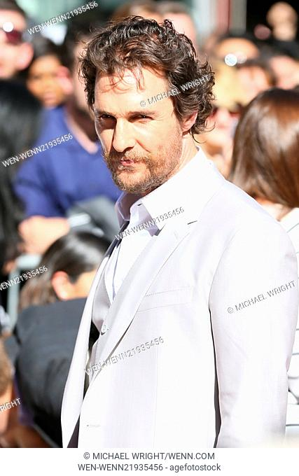 Matthew McConaughey honored with a star on The Hollywood Walk of Fame Featuring: Matthew McConaughey Where: Los Angeles, California
