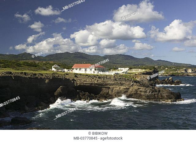 Grenada, South coast, Point of fort Jeudy, Field coast, surf,   Caribbean, West Indian islands, little one Antilles, islands over the wind, island, south