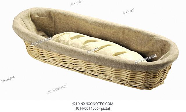 Dough in a bread bin