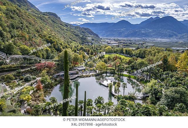 Gardens of Trauttmansdorff Castle, Merano, South Tirol, Italy, Europe