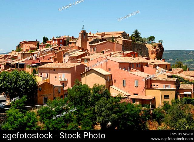 Stadt Roussillon in Südfrankreich