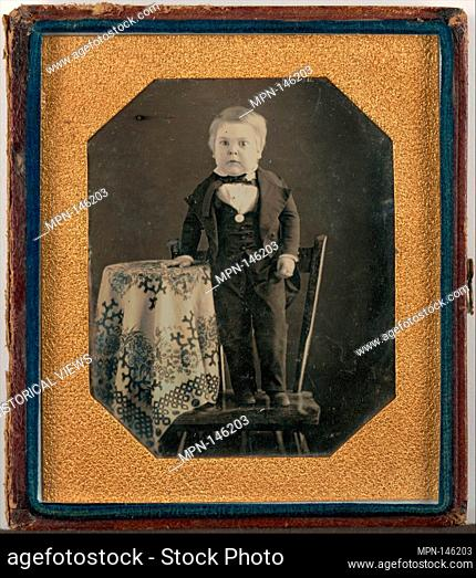 Tom Thumb (Charles Sherwood Stratton). Artist: Unknown (American); Date: ca. 1848; Medium: Daguerreotype; Dimensions: Image: 8