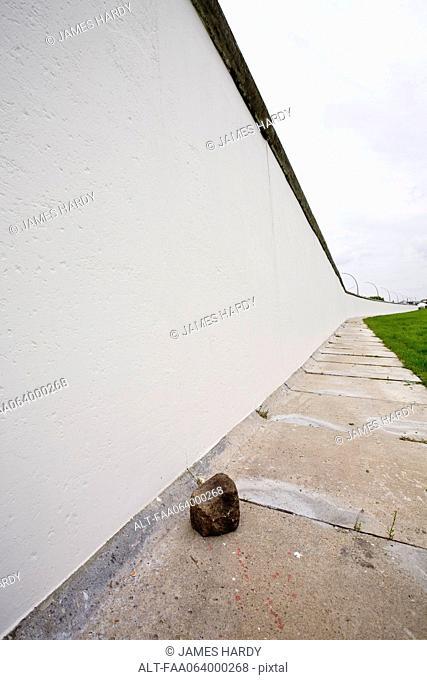 Germany, Berlin, Berlin Wall back side of the East Side Gallery