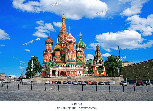 St. Basil's Cathedral at the Red Square of Moscow (Russia)