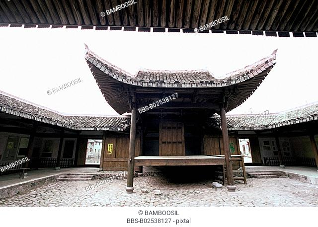 Old stage in Furong Village, Nanxi River, Yongjia County, Zhejiang Province, People's Republic of China