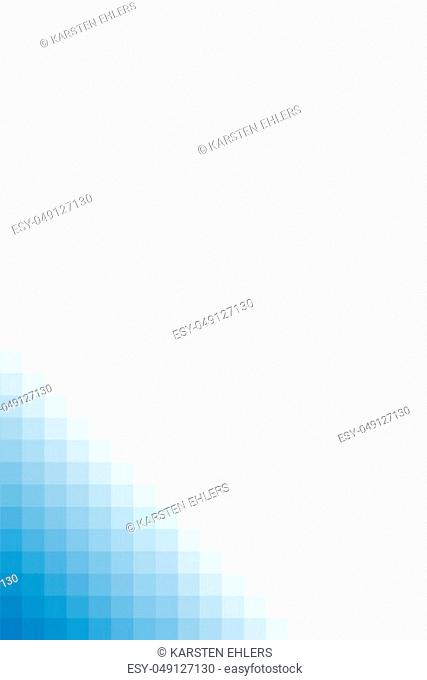 Blue color grid texture with empty white background