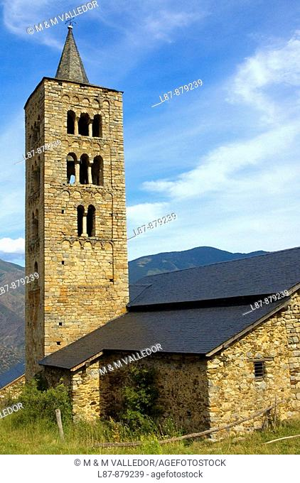 Sant Just i Sant Pastor romanic churh, alt Àneu, Lleida, Catalonia, Spain