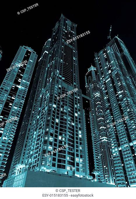 General view of Dubai at night
