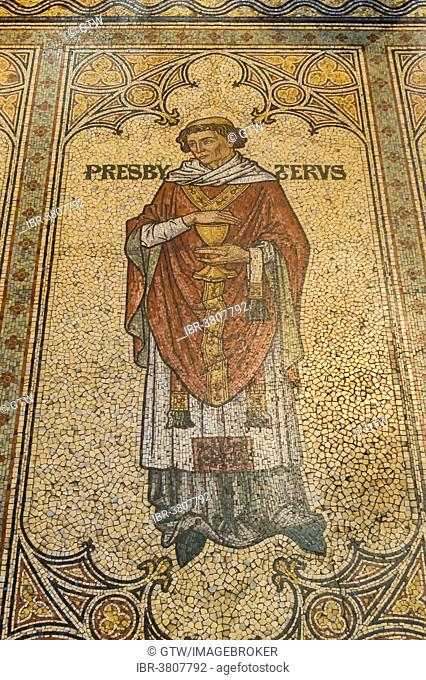 Floor mosaic, Cologne Cathedral, UNESCO World Heritage Site, North Rhine-Westphalia, Germany