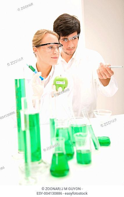 Genetic engineering - scientist in laboratory