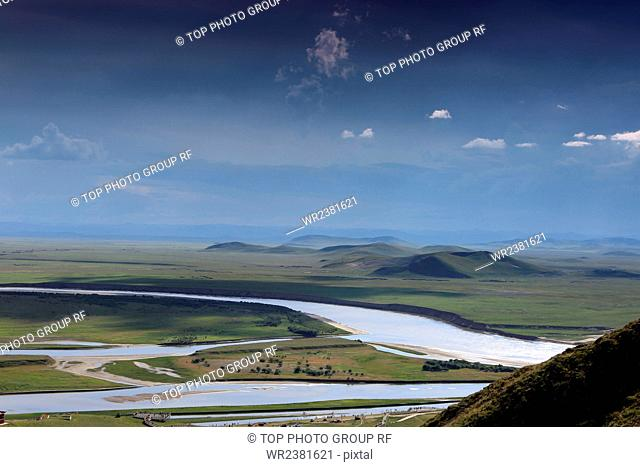 China Sichuan Province Aba Tibetan and Qiang Autonomous Prefecture First loop of Yellow River