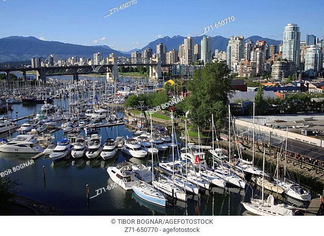 Canada, British Columbia, Vancouver, False Creek, Granville Island Marina