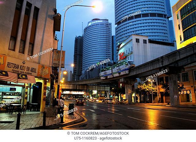 Monorail, Jalan Tunku Abdul Rachman, Chow Kit, Kuala Lumpur, Malaysia