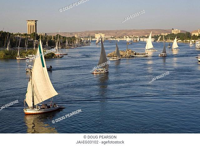 Feluccas, River Nile, Aswan, Egypt