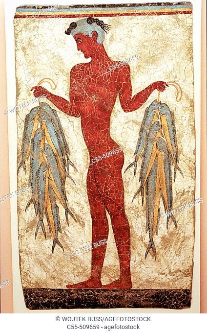 Akrotiri Frescoes. Santorini. Cyclades. Greece