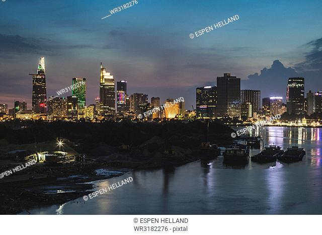 Skyline, Ho Chi Minh City, Vietnam, Indochina, Southeast Asia, Asia