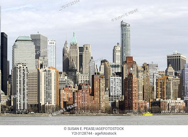 Manhattan buildings seen from across the Hudson River