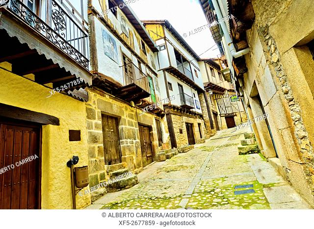 Traditional Architecture, Medieval Town, Historic Artistic Grouping, Mogarraz, Salamanca, Castilla y León, Spain, Europe