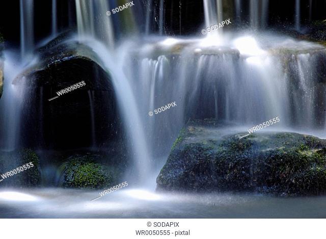 Europa, Austria, Vorarlberg, Dornbirn, Wasserfall