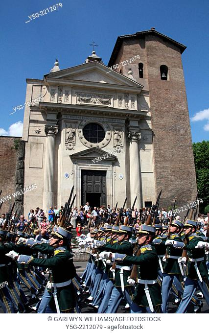 Rome, Italy 2nd June 2014 Military personnel marching at the 2nd June Republic Day parade in rome italy