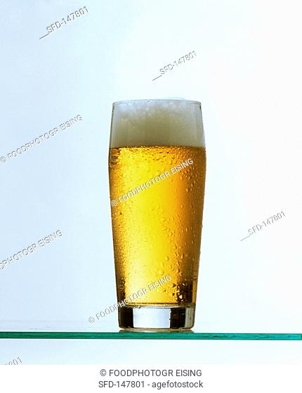A glass of beer light